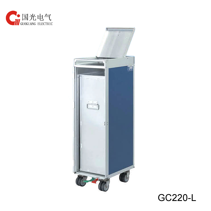 GC330-L Half Size  Waste Recycling Trolley with logo