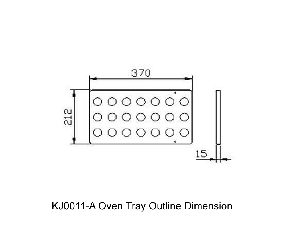 KJ0011-A Oven Tray Outline Dimension