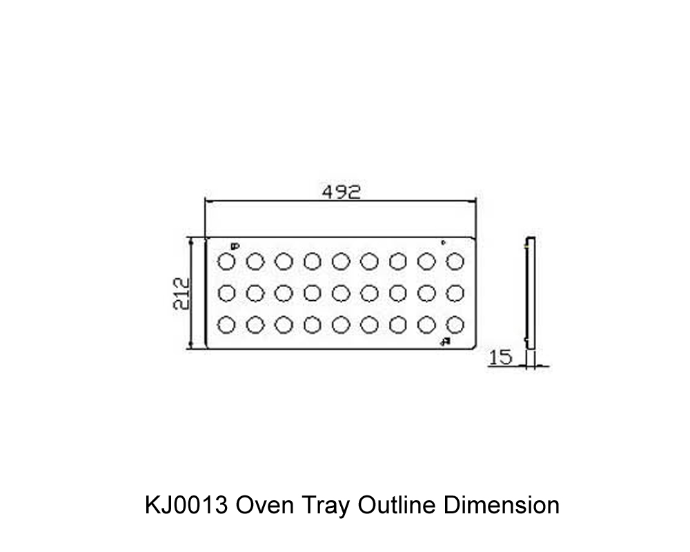 KJ0013 Oven Tray Outline Dimension