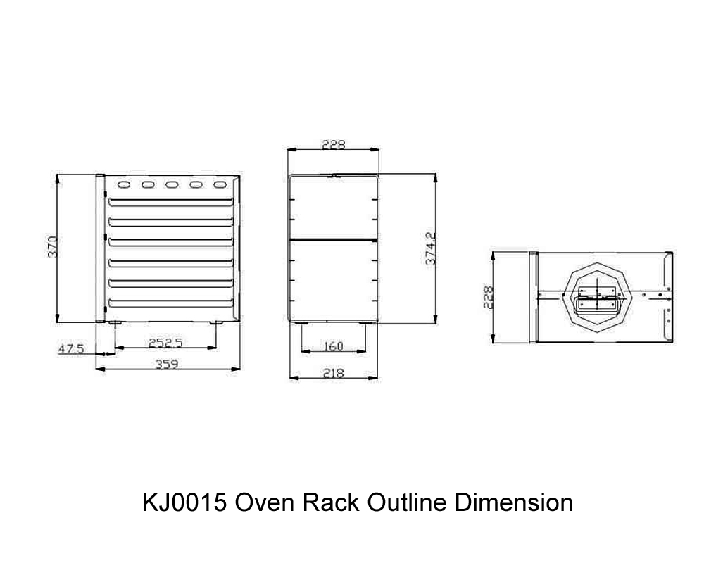 KJ0015 Oven Rack Outline Dimension
