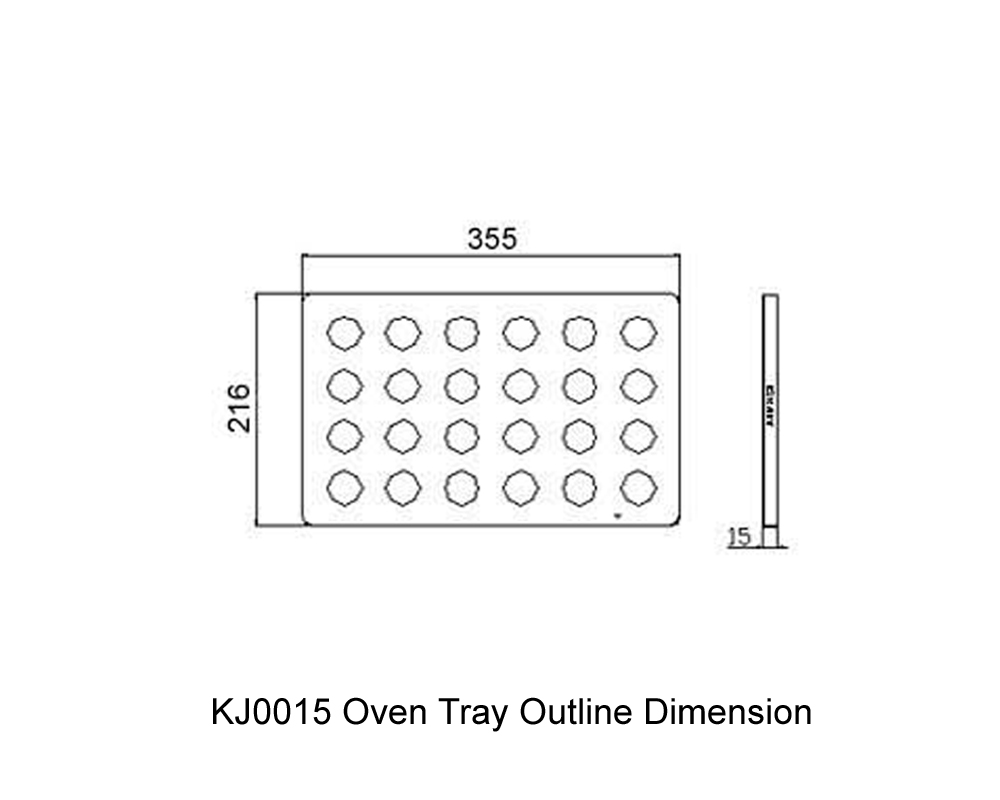 KJ0015 Oven Tray Outline Dimension