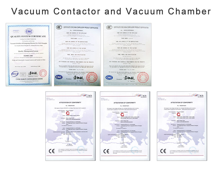 Vacuum Contactor and Vacuum Chamber