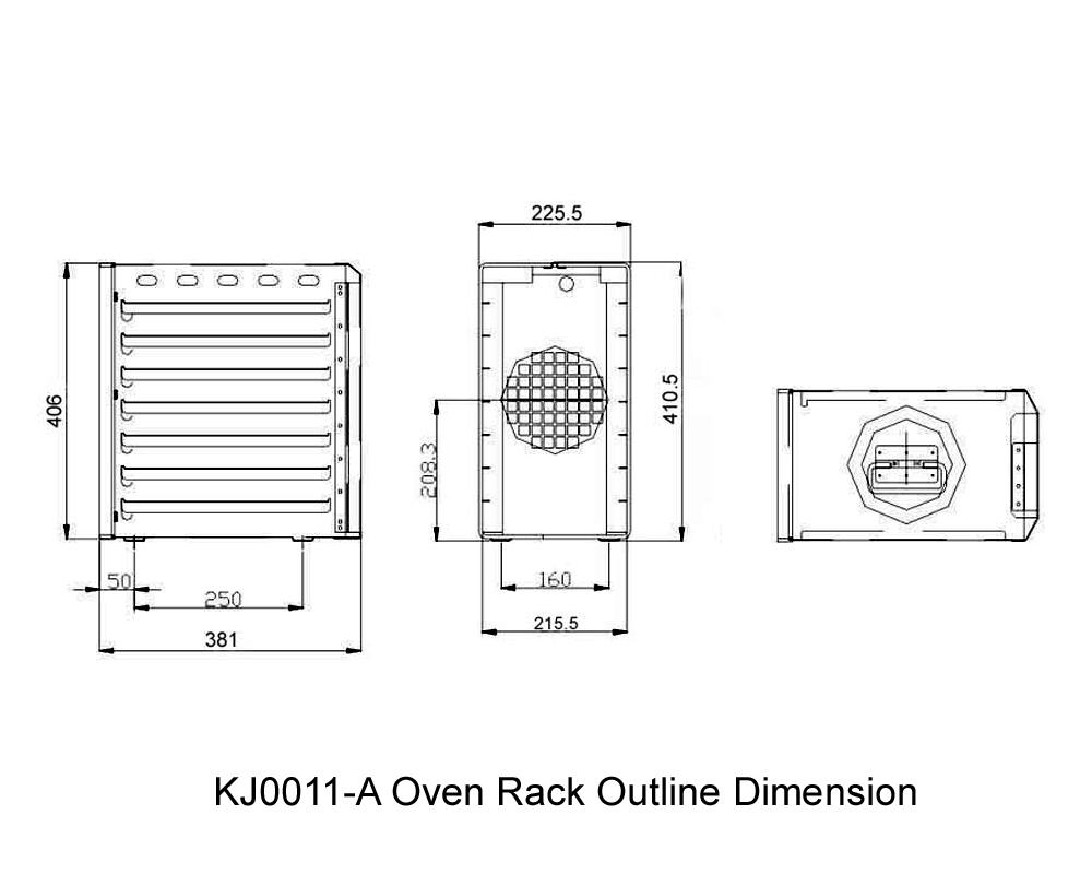 KJ0011-A Oven Rack Outline Dimension