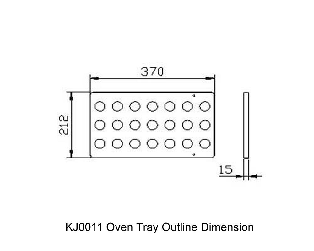 KJ0011 Oven Tray Outline Dimension