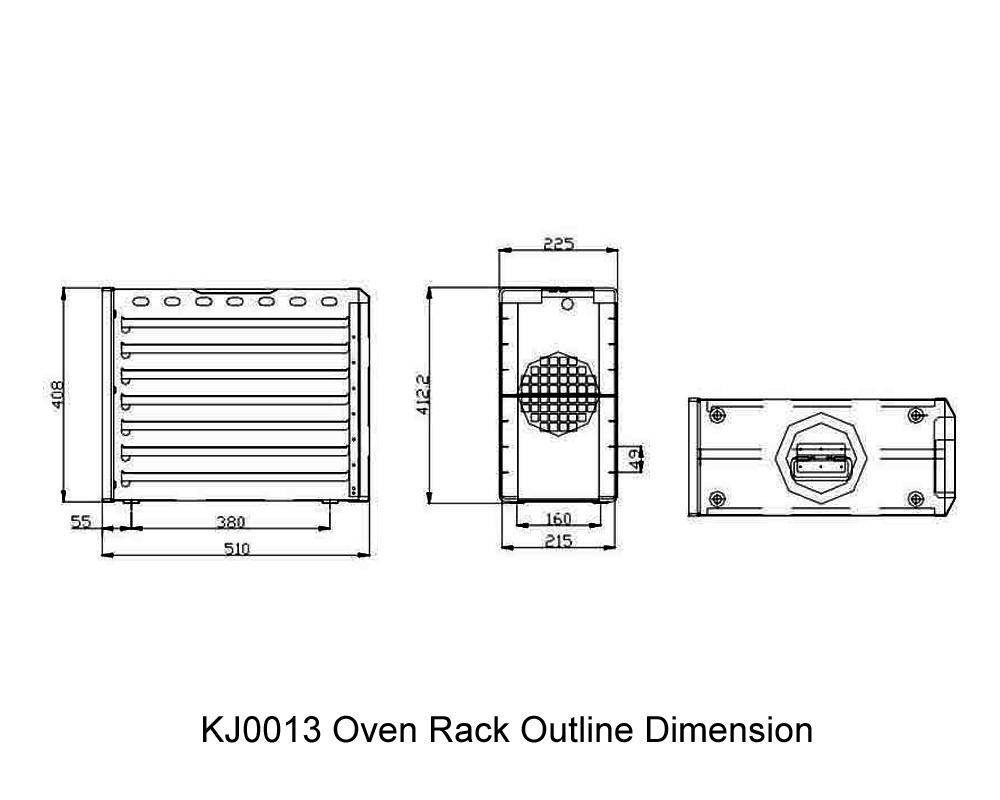 KJ0013 Oven Rack Outline Dimension