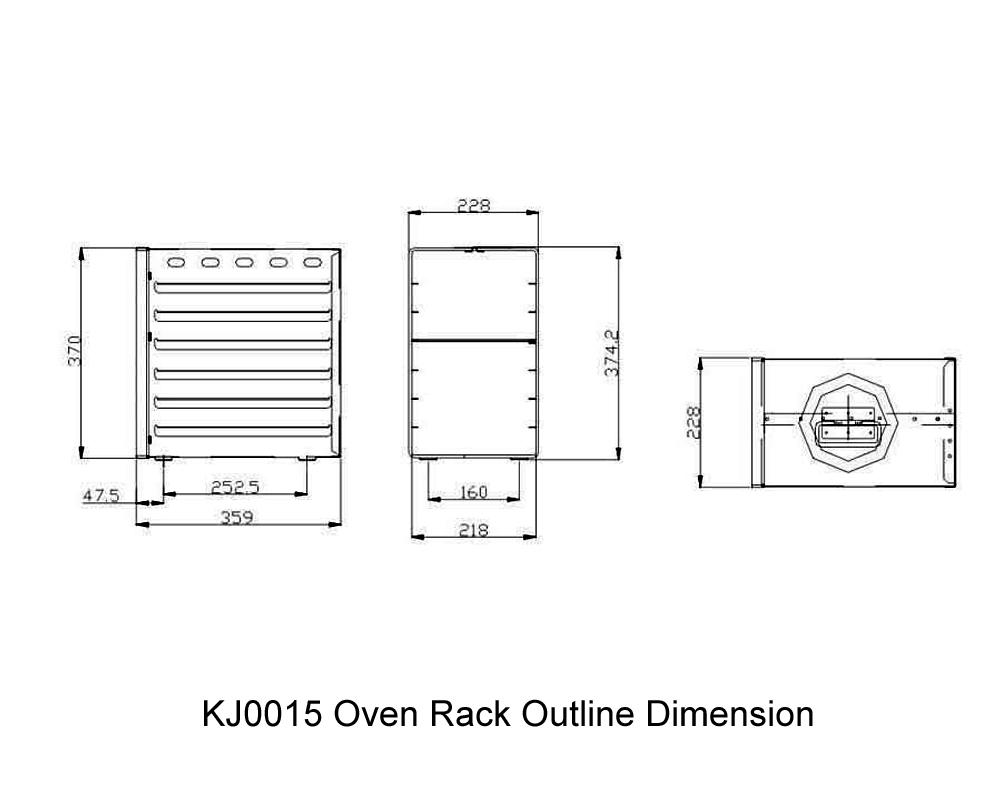 KJ0015 Oven Rack Outline Dimension