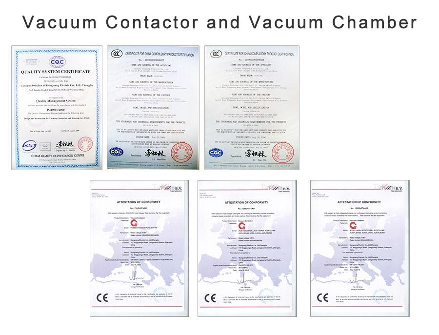 Vacuum Contactor and Vacuum Chamber